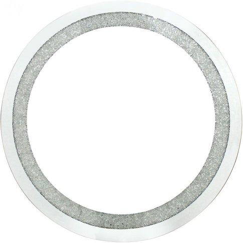 Diamond Crush Small Round Mirror