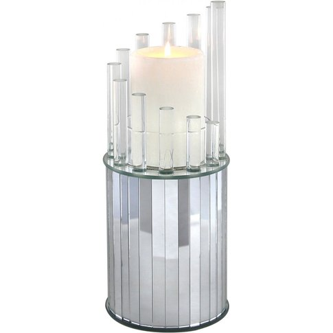 Extra Large Mirror And Acrylic Round Candle Holder