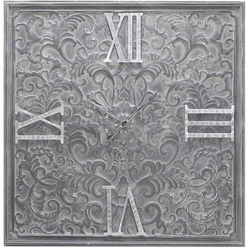 123cm Grey Metal Wall Clock