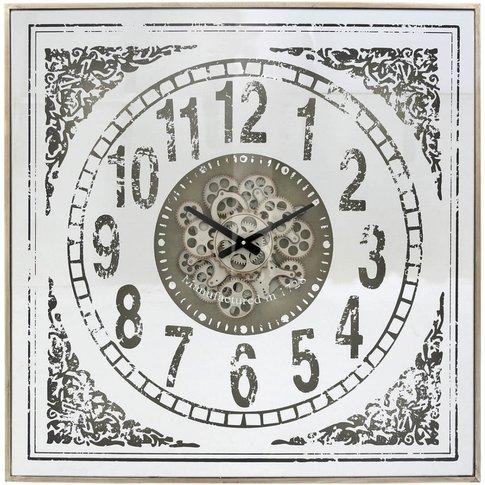 82.5cm Antique Mirror Wall Clock