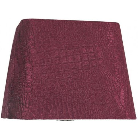 10in Croc Velvet Square Shade Red - Dual Fitting