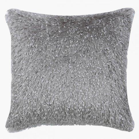 Grey Feather Cushion
