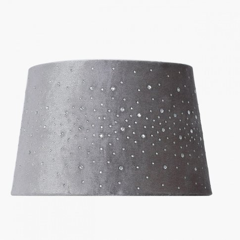 Deco Home 9in Diamond Velvet Empire Shade Grey (Dual...