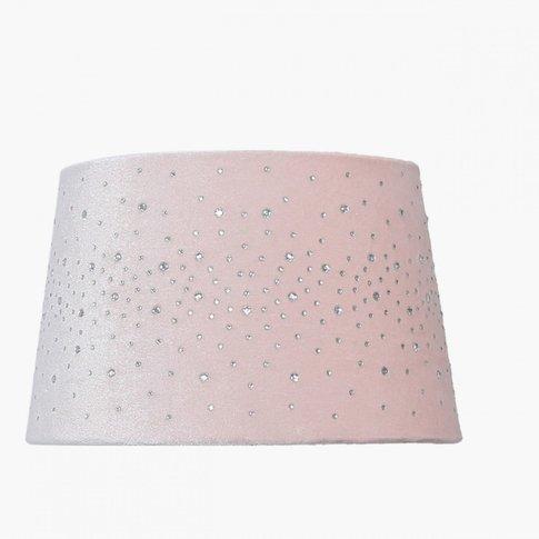 9in Diamond Velvet Empire Shade Rose Pink-Dual Fitting