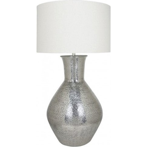 Nickel Olpe Floor Lamp With A 24 Inch Natural Linen ...