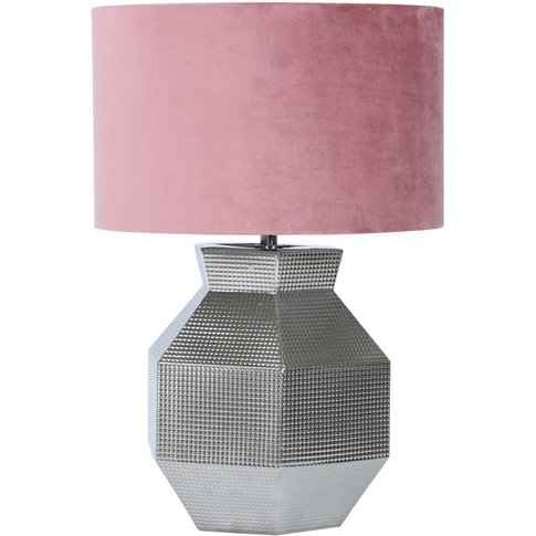 Cimc 48cm Silver Ceramic Hexagon Table Lamp With Pin...