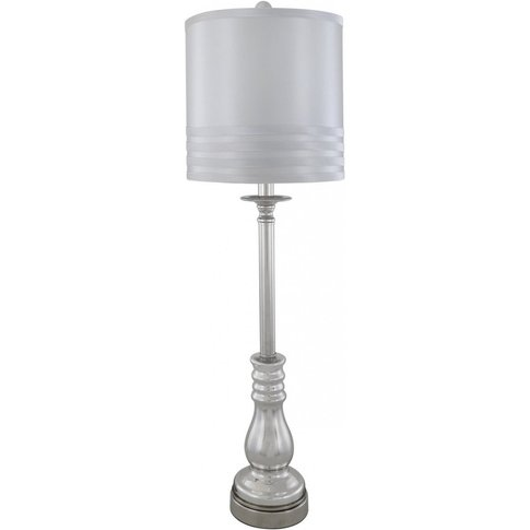 Silver Chrome Silver Candlestick Table Lamp