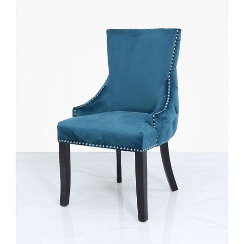 Marine Green Tufted Back Dining Chair