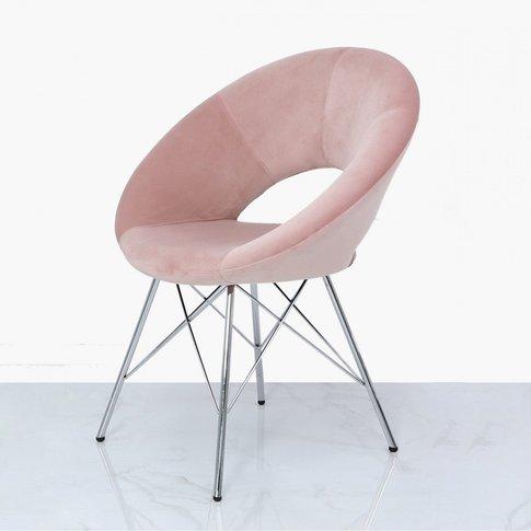 Orb Dining Chair Light Pink Velvet