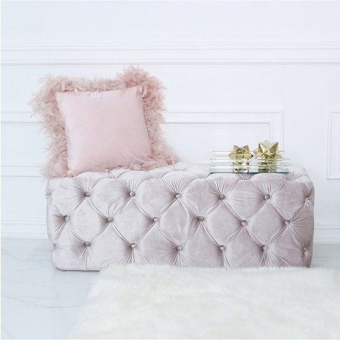 Belle Tufted Bench Soft Pink
