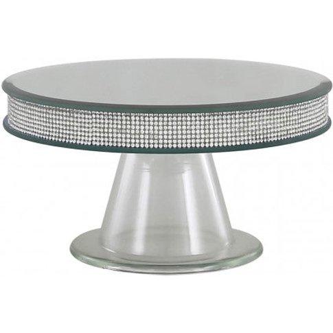 Small Silver Glitz & Mirror Candle Plate Pedestal