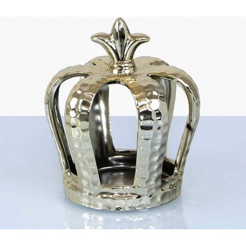 14.5cm Crown Decoration And Tealight Holder Gold