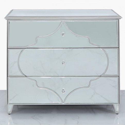 Sahara Marrakech Moroccan Silver Mirrored Large 3 Dr...