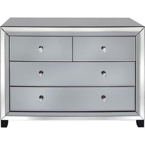 Otto Mirror Smoked 4 Drawer Cabinet