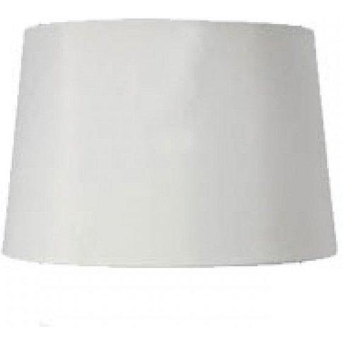 White Faux Silk Drum Lamp Shade