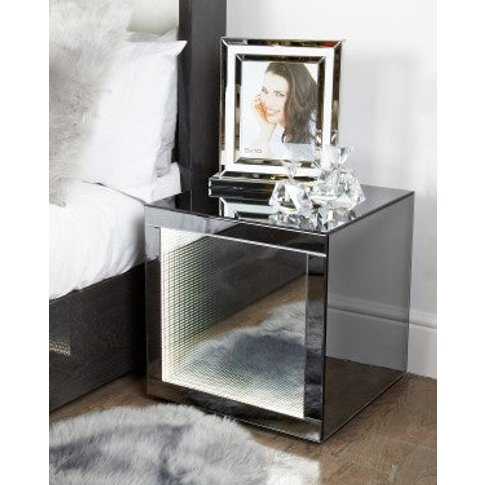 Smoked Mirror Infinity End Table
