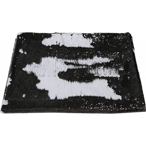 Cimc Black And White Mermaid Sequin Throw