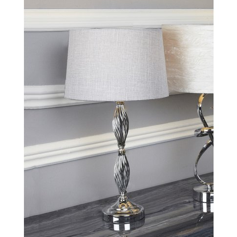 Cimc Wire Ball Table Lamp With Light Grey Shade