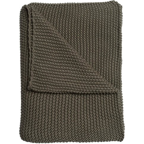 Sage Green Knitted Throw