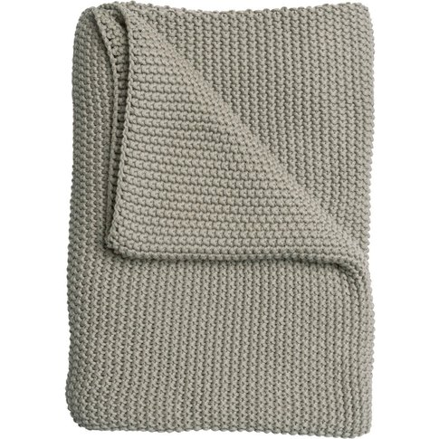 Grey Taupe Knitted Throw