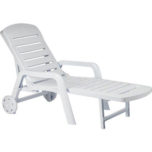 Resol Palamos Folding Sun Lounger - White