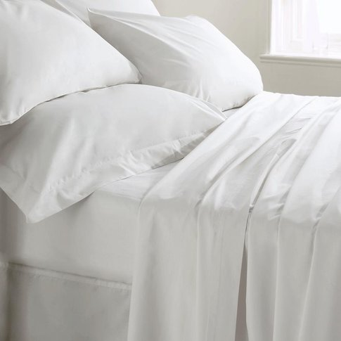 400 Thread Count Fitted Sheet SINGLE - White