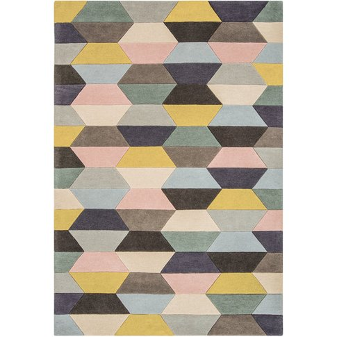 Asiatic Carpets Funk Hand Tufted Rug Honeycomb Paste...