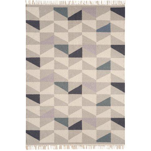 Asiatic Carpets Hackney Hand Woven Rug Geo Heather -...
