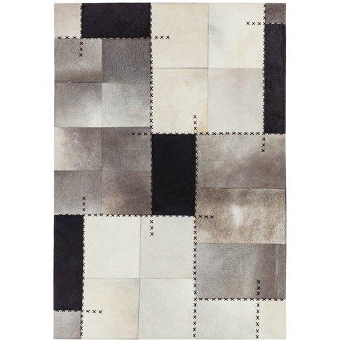 Asiatic Carpets Xylo Hand Sewn Rug Mono Cross Stitch...