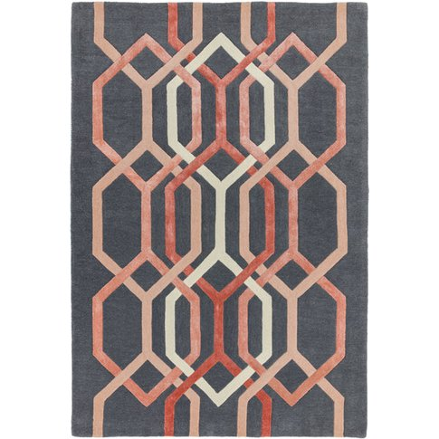 Asiatic Carpets Matrix Hand Tufted Rug Hexagon Charcoal - 160 X 230cm