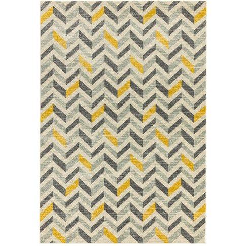Asiatic Carpets Colt Machine Woven Rug Chevron Mustard - 120 X 170cm