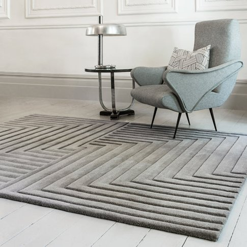 Asiatic Carpets Form Hand Tufted Rug Silver - 160 X ...