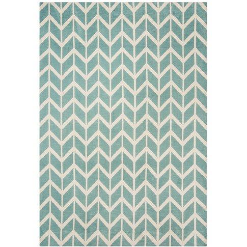 Asiatic Carpets Arlo Machine Knitted Rug Chevron Blu...