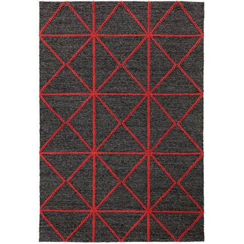 Asiatic Carpets Prism Hand Woven Rug Red - 200 X 290cm