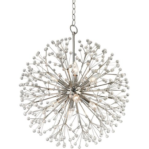 Hudson Valley Lighting Dunkirk Steel 8 Light Chandelier (6020-Pn-Ce)