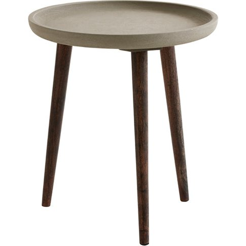 Fuhrhome Grey / Brown Zagreb Side Table
