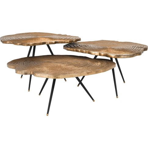 Eichholtz Quercus Coffee Table Set Of 3 In Brass Finish