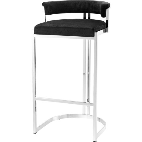Eichholtz Dante Bar Stool In Polished Stainless Stee...