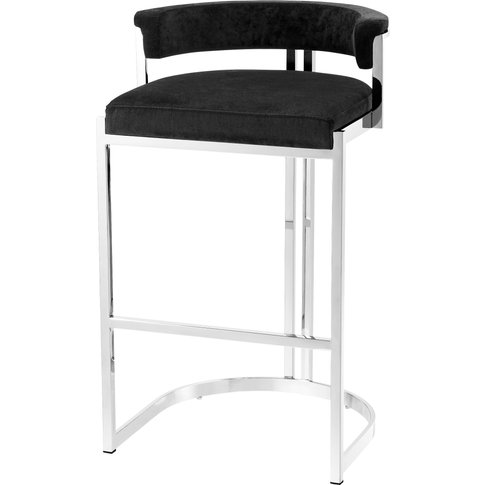 Eichholtz Dante Counter Stool Polished Stainless Ste...