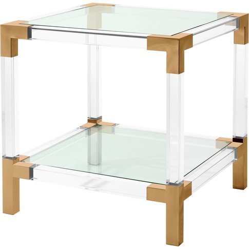 Eichholtz Side Table Royalton Brushed Brass Finish