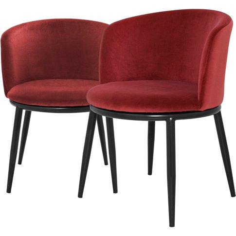 Eichholtz Filmore Dining Chair In Cameron Red Wine S...
