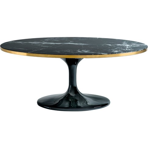 Eichholtz Parme Oval Coffee Table In Black Faux Marble