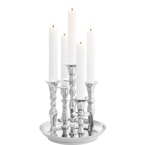Eichholtz Rosella Candle Holder In Nickel Finish