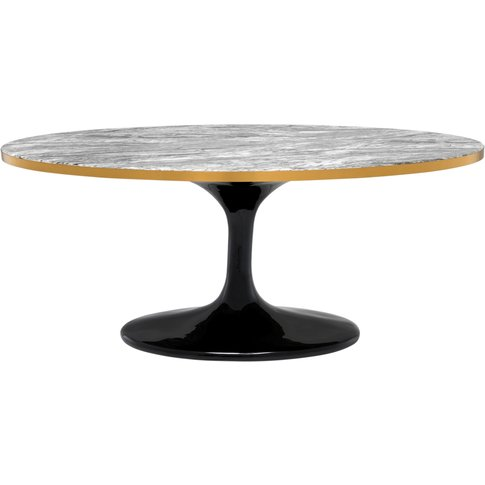 Eichholtz Coffee Table Parme Oval Grey Faux Marble