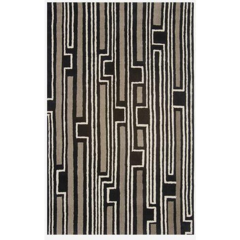 Andrew Martin Xian Black Taupe Rug