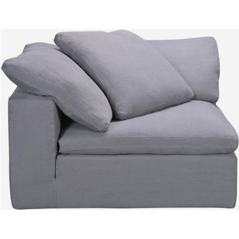 Andrew Martin Truman Large Grey Linen Sectional Sofa...