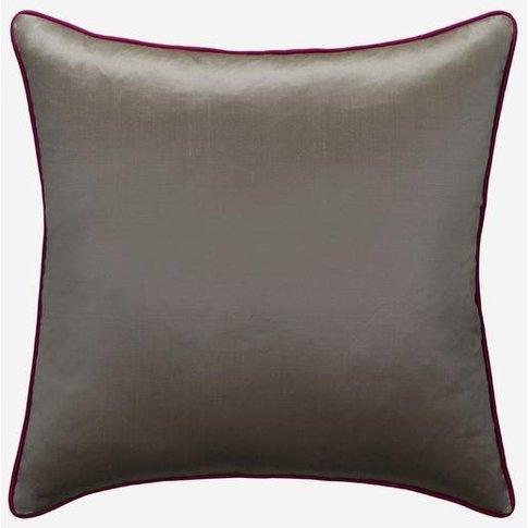 Andrew Martin Markham Silver Cushion With Fuchsia Pi...