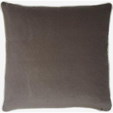 Andrew Martin Pelham Slate Cushion With Milk Piping