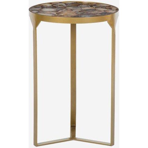 Andrew Martin Ida Side Table, Shingle