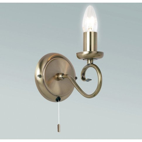 Gallery Direct Trafford Wall Light / Antique Silver